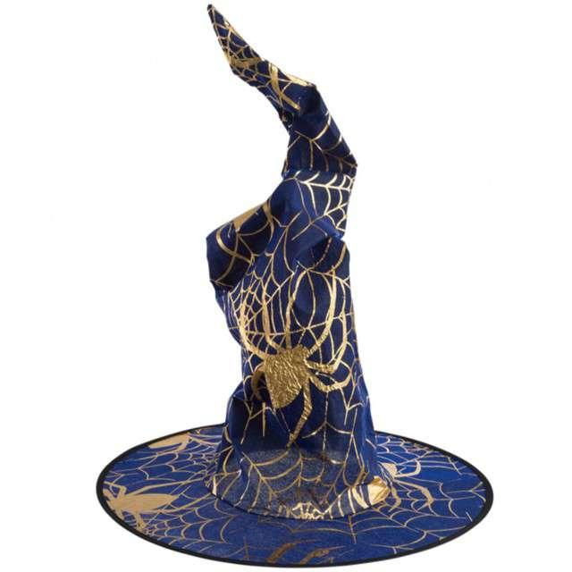 Kapelusz Czarownica Pająk niebieski Carnival Toys