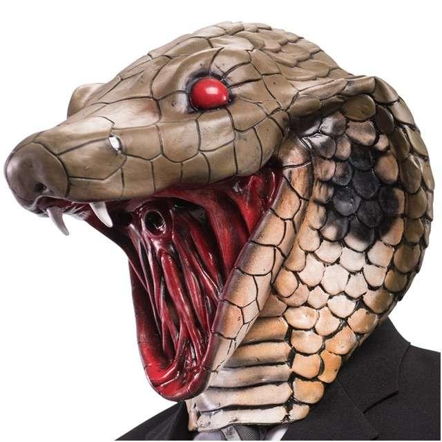 """Maska """"Kobra"""", lateksowa, Carnival Toys"""