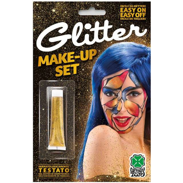 "Make-up party ""Farba do makijażu"", złota, Carnival Toys, 20 ml"