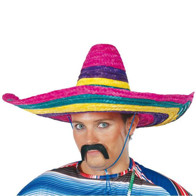 "Kapelusz ""Sombrero Meksykanina"", kolorowy, GUIRCA"