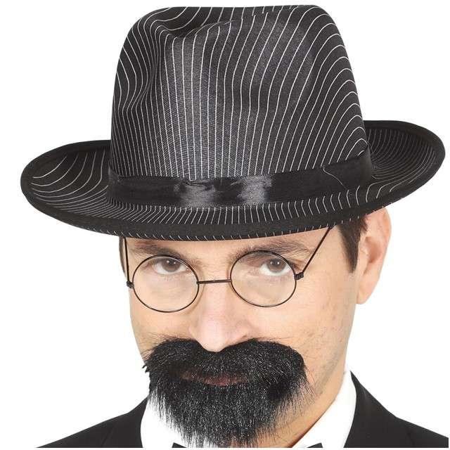 Kapelusz Mafioza Gangster czarny GUIRCA