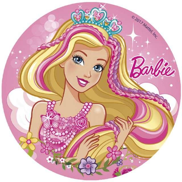 Dekoracja tortu - opłatek elastyczny bezglutenowy Barbie 16cm DEKORA