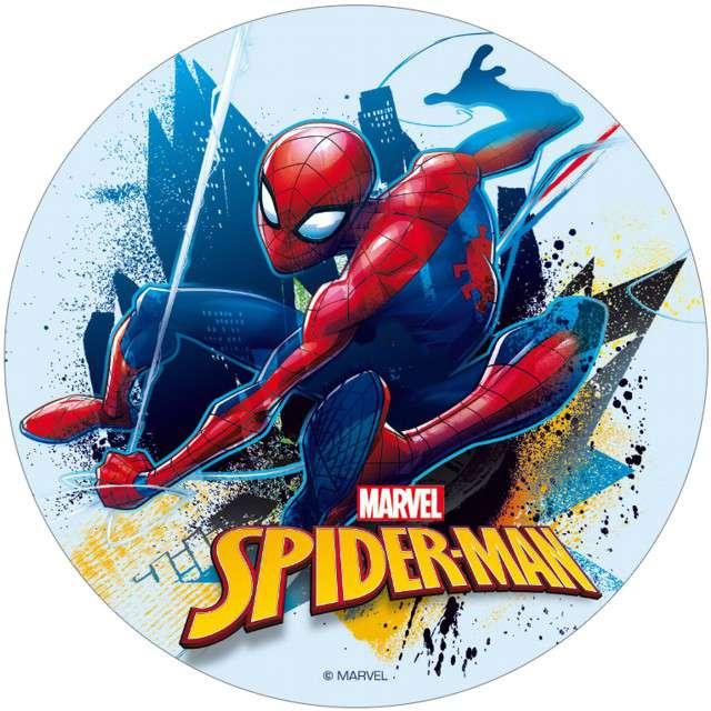 """Dekoracja tortu - opłatek elastyczny bezglutenowy """"SpiderMan"""", 16 cm, DEKORA"""