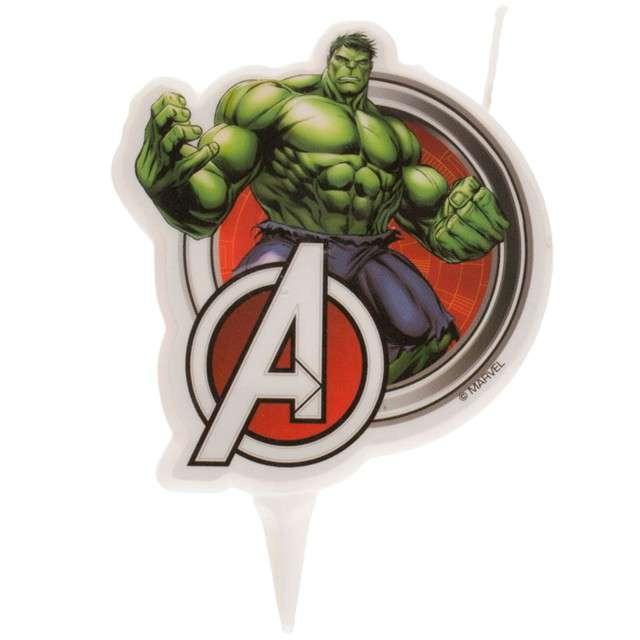 """Świeczka na tort """"Hulk - Avengers"""", DEKORA, 9 cm"""