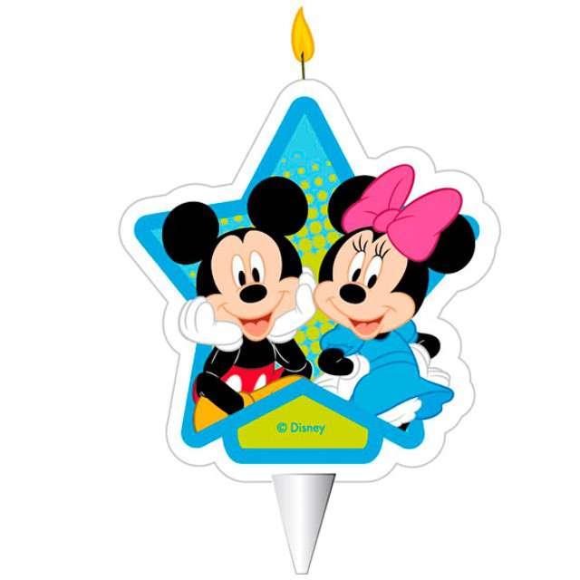 """Świeczka na tort """"Myszka Mickey i Minnie"""", DEKORA, 7,5 cm"""