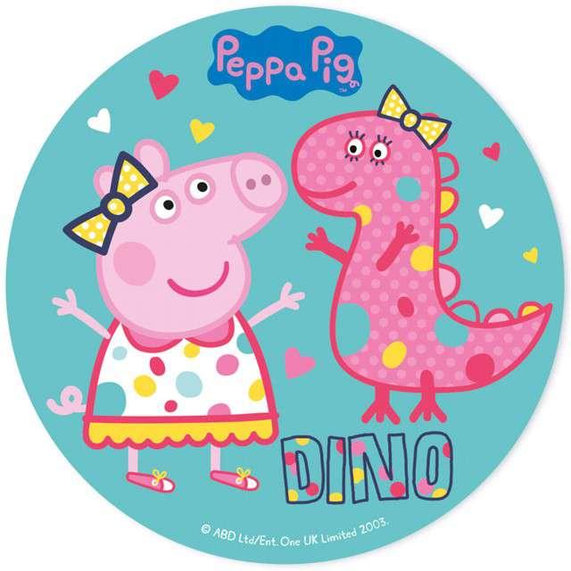 """Dekoracja tortu - opłatek elastyczny bezglutenowy """"Świnka Peppa"""", 20 cm, DEKORA"""