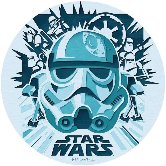 """Dekoracja tortu - opłatek elastyczny bezglutenowy """"Star Wars"""", 16 cm, DEKORA"""