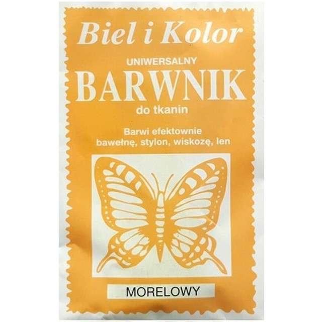 """Barwnik do tkanin """"Motyl"""", pomarańczowy morelowy, Biel i Kolor, 10 g"""