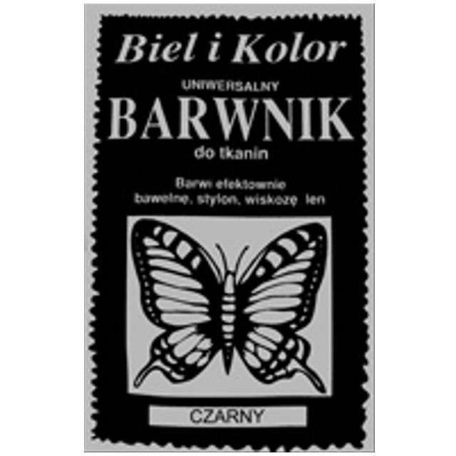 """Barwnik do tkanin """"Motyl"""", czarny, Biel i Kolor, 10 g"""