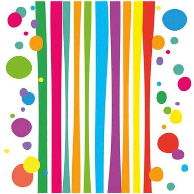 """Serwetki """"Kolorowe Paski i Grochy - Fresh"""", ARPEX, 33 cm, 20 szt"""