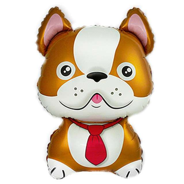 "Balon foliowy ""Pies - Bulldog"", FLEXMETAL, 14"" SHP"