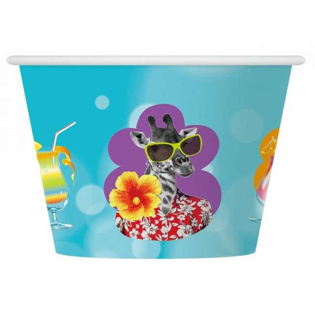 """Kubeczki do lodów """"Hawajskie Party"""", GODAN, 150 ml, 6 szt"""