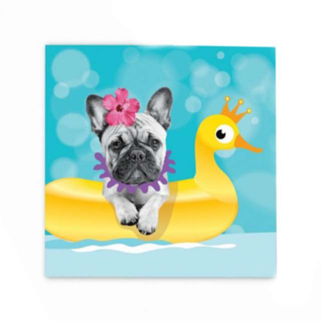 """Serwetki """"Bulldog - Hawajskie Party"""", GODAN, 33 cm, 20 szt"""