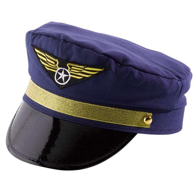 """Czapka """"Pilota"""", granatowa, AMSCAN"""