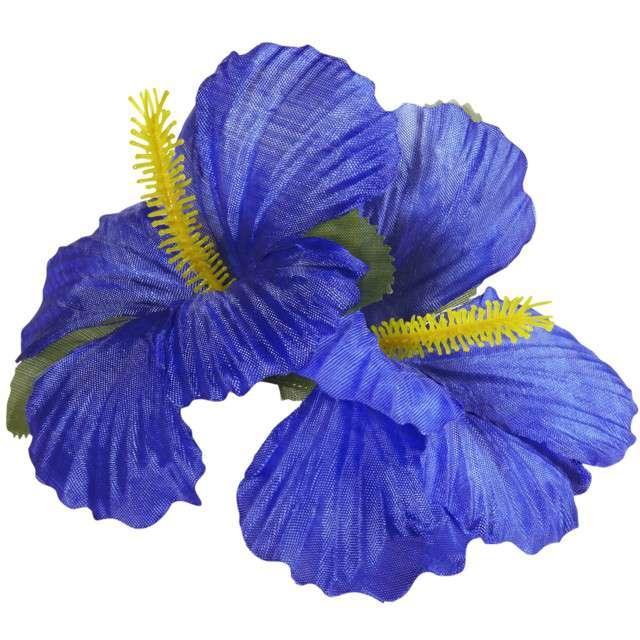"""Spinka do włosów """"Kwiaty Hibiskus"""", niebieski, WIDMANN"""