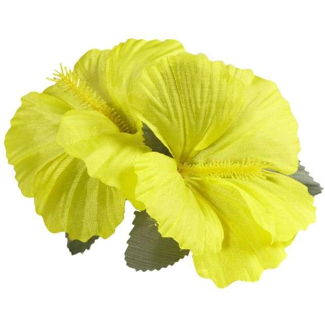 """Spinka do włosów """"Kwiaty Hibiskus"""", żółty, WIDMANN"""