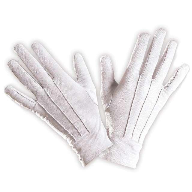 """Rękawiczki """"Święty Mikołaj"""", białe, WIDMANN"""