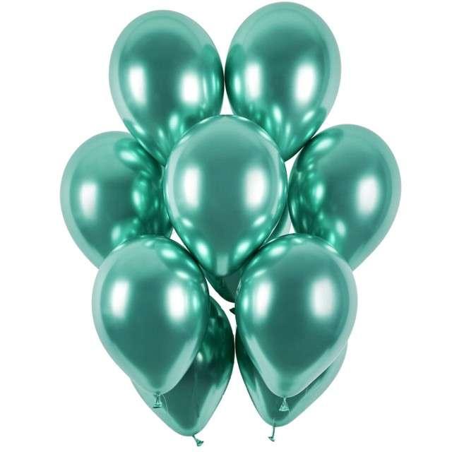 """Balony """"Shiny"""", zielony chrom, Gemar, 13"""", 50 szt"""