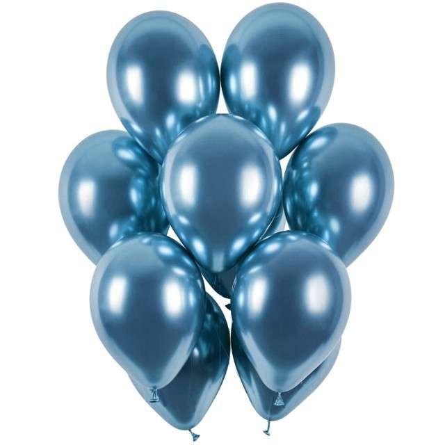 """Balony """"Shiny"""", niebieski chrom, Gemar, 13"""", 50 szt"""
