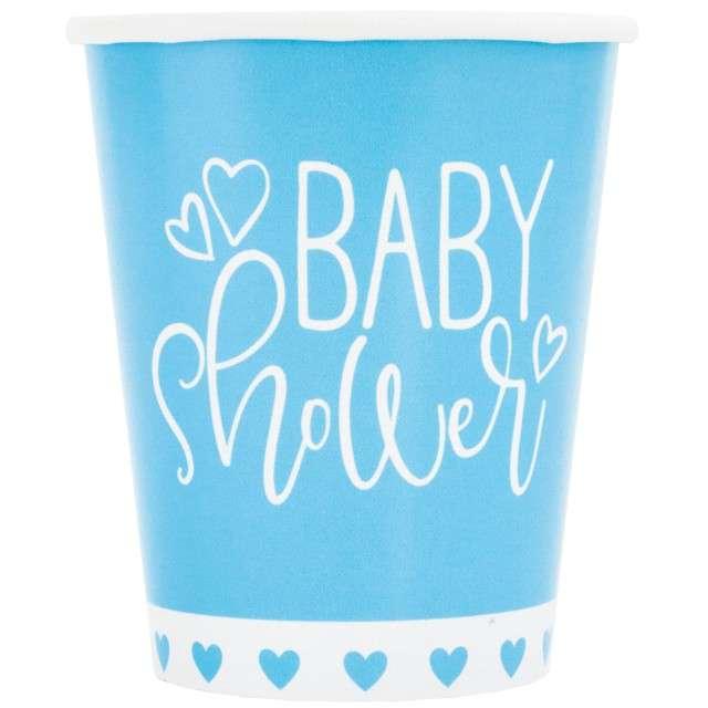 "Kubeczki papierowe ""Baby Shower"", UNIQUE, 266 ml, 8 szt"