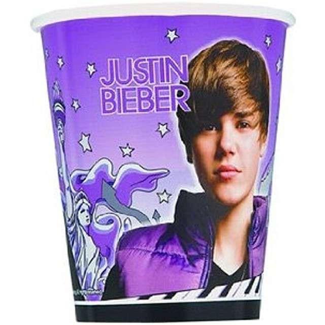 "Kubeczki papierowe ""Justin Bieber"", UNIQUE, 266 ml, 8 szt"