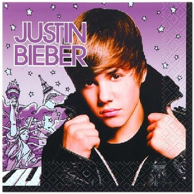 "Serwetki ""Justin Bieber"", UNIQUE, 33 cm, 16 szt"
