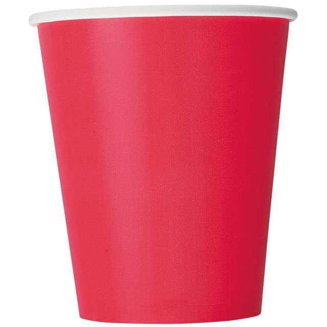 """Kubeczki papierowe """"Classic"""", czerwone, UNIQUE, 270 ml, 8 szt"""