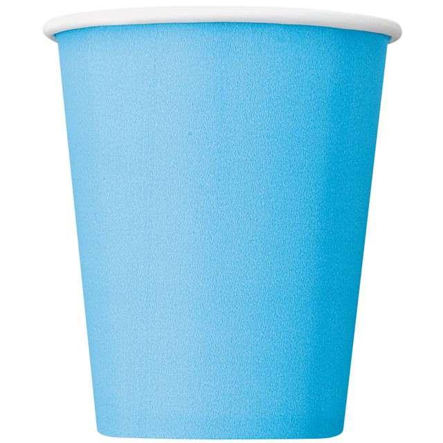 """Kubeczki papierowe """"Classic"""", błękitne, UNIQUE, 270 ml, 14 szt"""