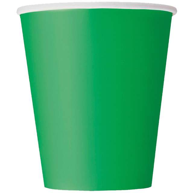 """Kubeczki papierowe """"Classic"""", zielone, UNIQUE, 270 ml, 14 szt"""