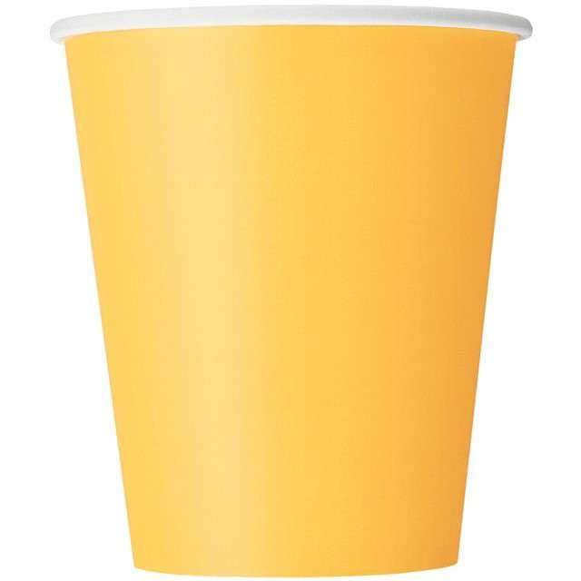 """Kubeczki papierowe """"Classic"""", żółty, UNIQUE, 270 ml, 14 szt"""