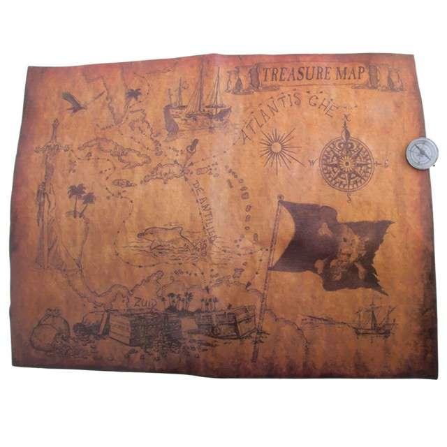 """Dekoracja """"Mapa z Kompasem"""", Funny Fashion, 40x30 cm"""