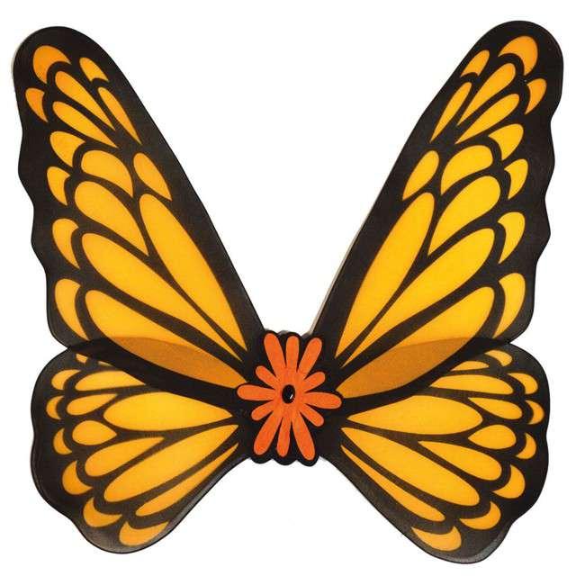 """Skrzydła """"Motyl"""", pomarańczowe, Funny Fashion, 76 cm"""