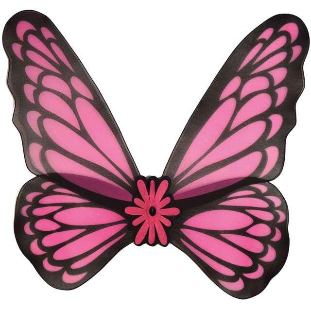 """Skrzydła """"Motyl"""", różowe, Funny Fashion, 76 cm"""