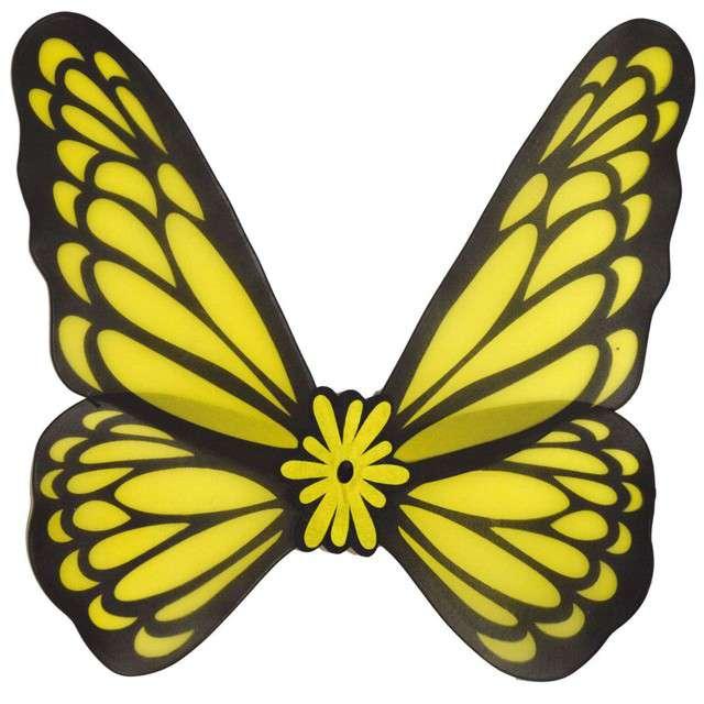 "Skrzydła ""Motyl"", żółte, Funny Fashion, 76 cm"