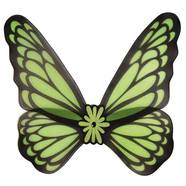 """Skrzydła """"Motyl"""", zielone, Funny Fashion, 76 cm"""
