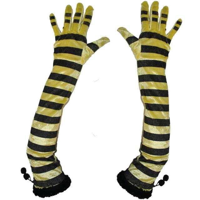 """Rękawiczki """"Pszczółka Long"""", FunnyFashion, 60 cm"""