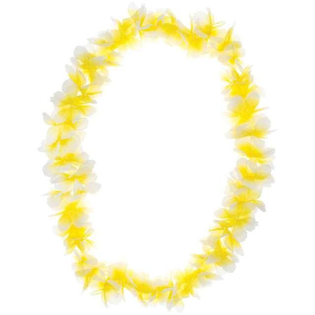 """Naszyjnik Hawajski """"Aloha"""", żółty, FunnyFashion, 100 cm"""