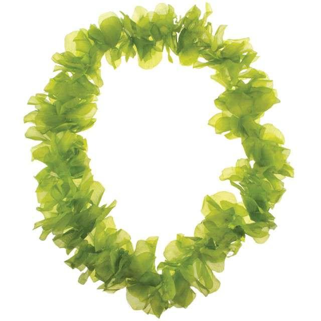 """Naszyjnik Hawajski """"Aloha"""", zielony, FunnyFashion, 100 cm"""