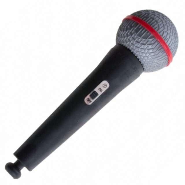 Mikrofon, czarny, Funny Fashion