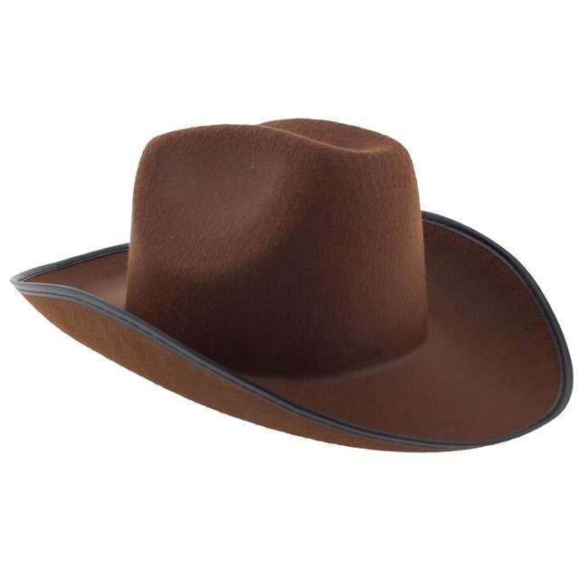 """Kapelusz """"Kowboj z Dzikiego Zachodu"""", brązowy, Funny Fahsion"""