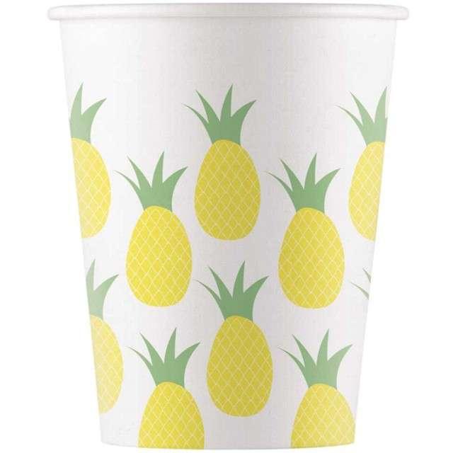"""Kubeczki papierowe """"Ananas"""", PROCOS, 200 ml, 8 szt"""