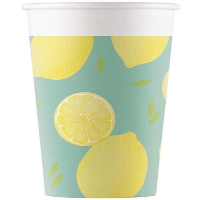 """Kubeczki papierowe """"Cytryny"""", PROCOS, 200 ml, 8 szt"""