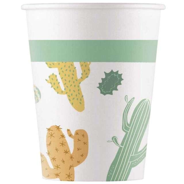 """Kubeczki papierowe """"Kaktus"""", PROCOS, 200 ml, 8 szt"""