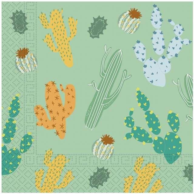 "Serwetki ""Kaktus"", PROCOS, 33 cm, 20 szt"