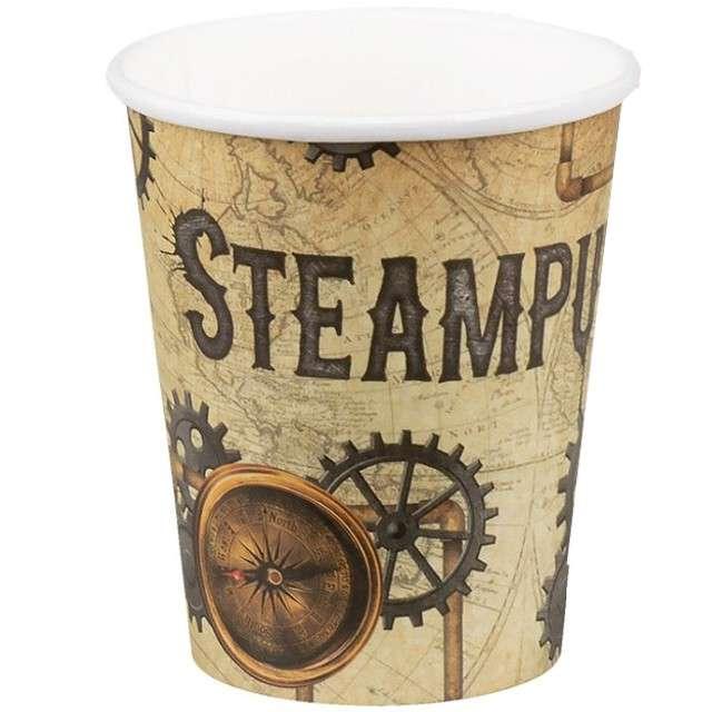 """Kubeczki papierowe """"Steampunk"""", BOLAND, 250 ml, 6 szt"""