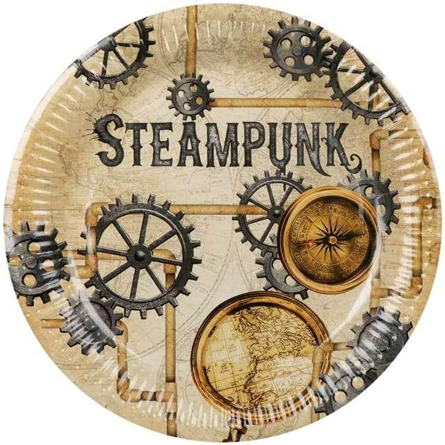 """Talerzyki papierowe """"Steampunk"""", BOLAND, 23 cm, 6 szt"""