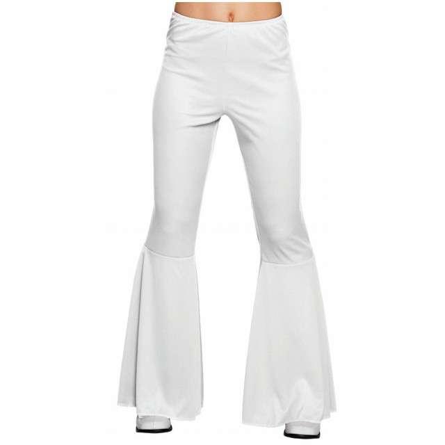 """Spodnie party """"Dzwony Disco"""", białe, BOLAND, rozm. M"""