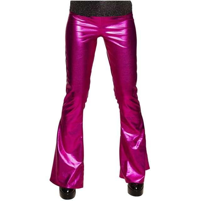 """Spodnie party """"Dzwony Disco"""", różowe, BOLAND, rozm. M"""