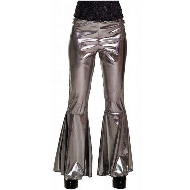 """Spodnie party """"Dzwony Disco"""", srebrne, BOLAND, rozm. M"""