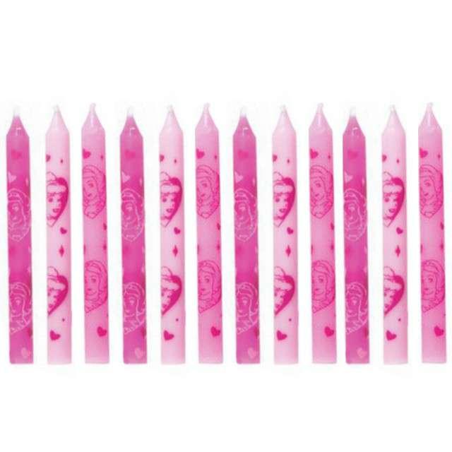 """Świeczki na tort """"Princess"""", różowe, PROCOS, 12 szt"""